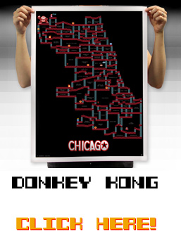 Donkey Kong Chicago Neighborhood Map