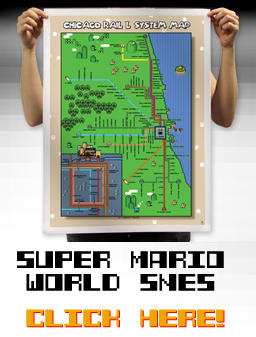 Super Mario World SNES Chicago Map